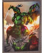 TMNT vs Incredible Hulk Glossy Art Print 11 x 17 In Hard Plastic Sleeve - $24.99