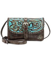 Patricia Nash Turquoise Tooled Torri Crossbody - $125.00