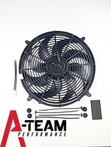 A-Team Performance Radiator Electric Cooling Fan 16inch Heavy Duty 12V Wide Curv image 3