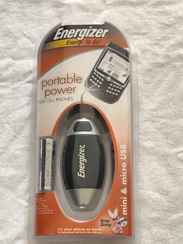 Energizer Portable Power Backup Charger For Cell Phones w/ Battery - NEW SEALED