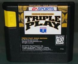 SEGA GENESIS - EA SPORTS - TRIPLE PLAY GOLD EDITION (Game Only) - $8.00