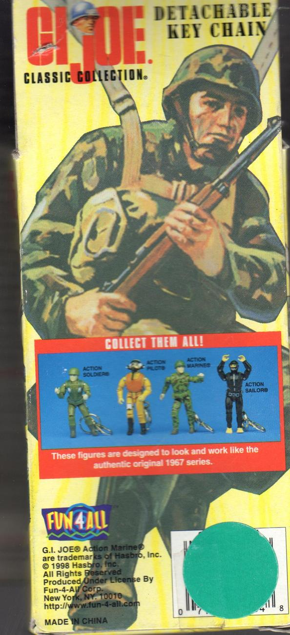 """GI Joe Action Soldier Detachable Key Chain Fully Articulated 4"""" Figure"""