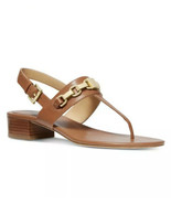 NIB MICHAEL KORS CHARLTON SANDALS - ACORN/GOLD - $74.99