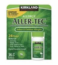 Kirkland Signature Allergy Aller-Tec 10 mg Cetirizine Hydrochloride 365 ... - $13.37