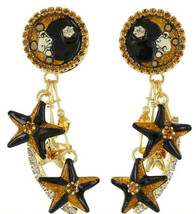 Lunch at the Ritz First Star & Moon Austrian Crystal Rhinestone Clip On ... - $94.05