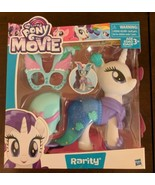 My Little Pony Movie Rarity Unicorn Snap On Fashions Party Dress Up Larg... - $12.00
