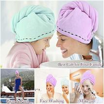 Orthland Microfiber Hair Towel Drying Wrap [2 Pack] Hair Turban Head Wrap with B image 5