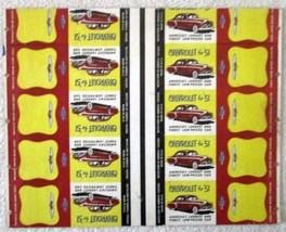 "Chevrolet for ""51 uncut match book sheet excellent condition 1951 - $9.99"