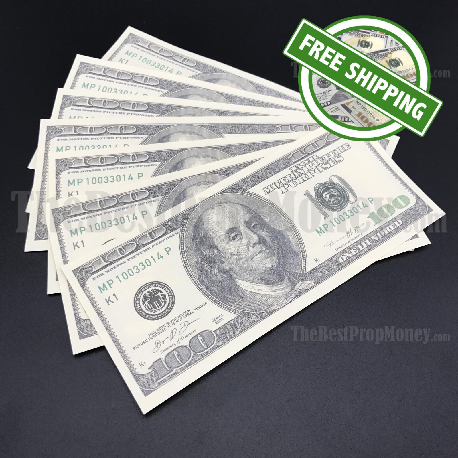 THE BEST FAKE MONEY - 7x $100 Bills - $700 - 2000s Style - Play Fun Joke Prank F for sale  USA