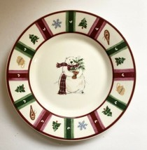 Pfaltzgraff Dessert Plate Snow Bear Winter Holiday Stoneware Christmas Decor - $5.55