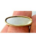 Vintage Signed Avon Mother of Pearl Ring Gold tone size 7 MOP - $9.89