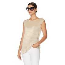 French Rendez Vous Martin Mariner Striped Tank Sand/Pearl, XS (HSN Price $60) - $32.66
