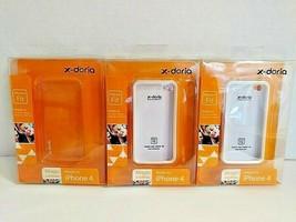 Lot of 3 x-Doria Magic Clothes Apple iPhone 4 Cases Slim Fit Clear Snap ... - $11.88