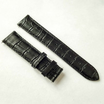 Black Leather Strap Watchband Tissot PRC200 PR100 T461 T014417A  without... - $32.67