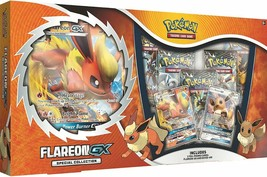 Flareon GX Special Collection Box Pokemon TCG 5 Booster Packs + Promos - $38.99