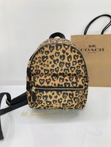 NWT New Coach F24208 Mini Charlie Backpack Canvas Wild Heart Natural Mul... - $121.51