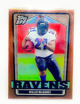 NFL WILLIS MCGAHEE BALTIMORE RAVENS 2007 TOPPS DDP GOLD REFRACTOR /250 MINT - $0.50