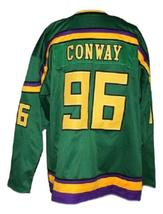 Any Name Number Mighty Ducks Retro Hockey Jersey Green Conway Any Size image 5