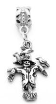 NICE Spooky Halloween Scarecrow charm Jewelry Scary Sterling Silver Euro... - $18.63