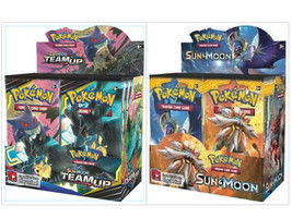 Pokemon TCG Sun & Moon Team Up + Sun & Moon Base Set Booster Box Bundle - $209.99