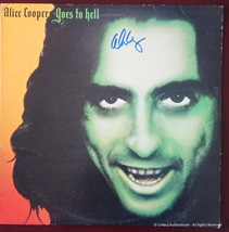 Alice Cooper Autographed Alice Cooper Goes to Hell Record Album Cover - $110.00