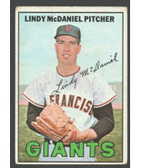 San Francisco Giants Lindy McDaniel 1967 Topps Baseball Card #46 vg - $0.99