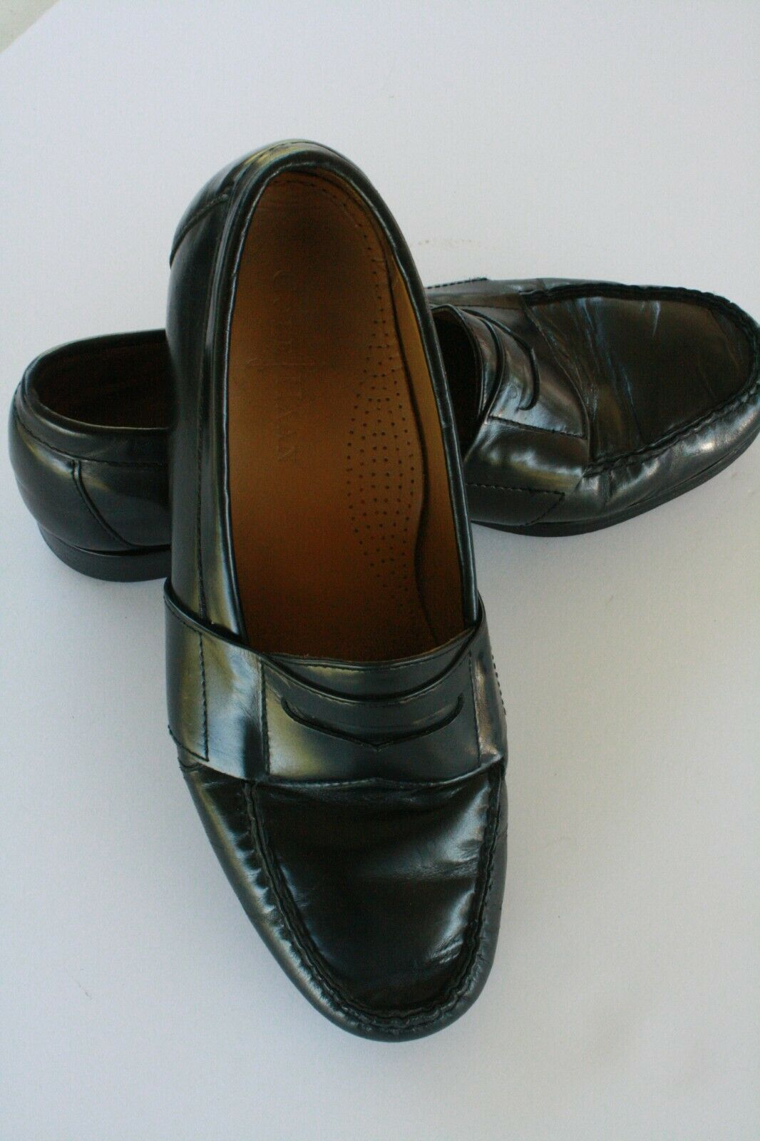 Cole Haan Men's Black Leather Slip On Casual Penny Loafers Size 8.5 M EUC image 4