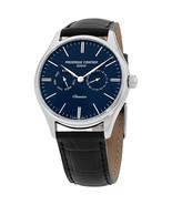 Frederique Constant Classics Blue Dial Leather Strap Men's Watch FC259BN... - $629.00