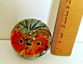 Alabaster Owl Paper Weight Made In Italy - $12.86