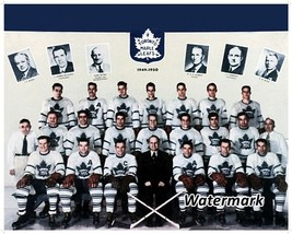 NHL 1949 - 50 Toronto Maple Leafs Team Picture Color 8 X 10 Photo Pic Pi... - $4.99