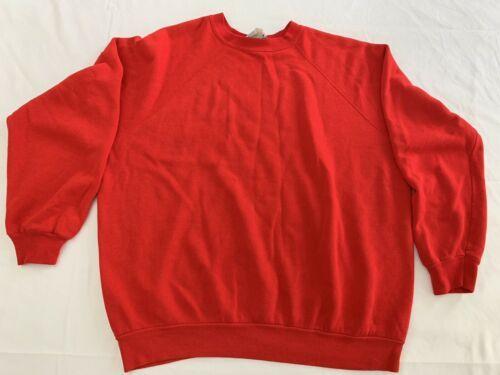 Vintage Ultra Fleece 220 Tultex Red Sweatshirt Size XL * Fits Smaller VG 80's