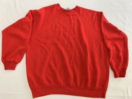 Vintage Ultra Fleece 220 Tultex Red Sweatshirt Size XL * Fits Smaller VG... - $23.74