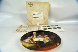 Vintage Norman Rockwell The Gormet Bradford Exchange Collector Plate - $13.85