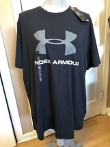 BNWTS Under Armour LOGO T-SHIRT BLACK LARGE LOOSE FIT - $24.74