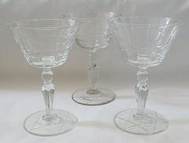 Libbey Wayne Pattern Champagne Glass Set of 3 - $14.80