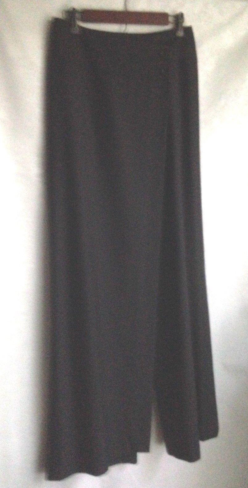 Vintage Saks Fifth Avenue Dress Slacks Women's Size 4 Skirt Panel Pants Black