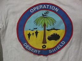Vintage Gulf War OPERATION DESERT SHIELD T SHIRT M Desert Storm Military... - $33.00