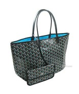 GOYARD Saint Louis Claire Voie Bag PM and Pouch Turquoise Blue Tote - $2,880.90