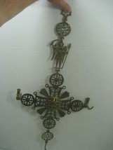 Vintage Wall Hanging Wall Décor Brass Piece Intricate Detail Designs - $56.06