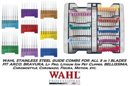 Wahl 5 In 1 Blade Stainless Steel Attachment Guide Comb Set For Bravura,Figura - $57.99