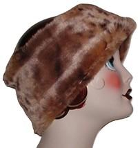 Brown Fur Headband Ski Band Head Ear Warmer Leopard Tan Mocha - $33.00