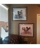 FRANKLIN MINT Desert Run & The Untamed Signed Horse Art by Chuck Dehaan COA - $495.00