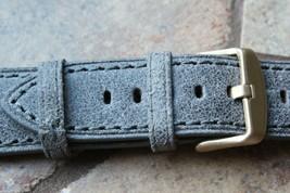 Genuine Leather Watch Strap Band LeVeL B-804S Dark Gray Vintage - $22.90