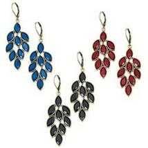 Avon Antiqued Leaf Chandelier Earrings - $17.00