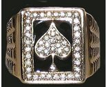 Ring gold cz ace of spades front black thumb155 crop