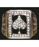 Ace Spades Iced Men's Bling Ring Size 13 New - $34.99