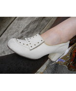 1950's Vintage White Suede Studded Shoes Paragon Life Stride sz 8  - $59.99