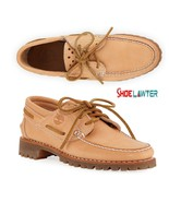 TIMBERLAND MENS LIMITED HANDSEWN BARE NAKED BOAT SHOES NATURAL HORWEEN A... - $79.39