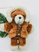 "VTG Avon 1984 Plush Puppy Teddy Bear Christmas Tree Ornament *no scarf* 6"" - $15.99"