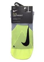 Nike Elite Lightweight No Show Golf Socks Mens 10-11.5 Volt Grey SG0797-012 - $16.83